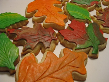 Fall Leaves, 6 cookies