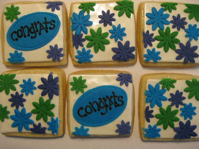 Congratulatory Flowers, 6 cookies