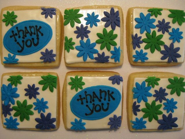 Thank You Flowers, 6 cookies